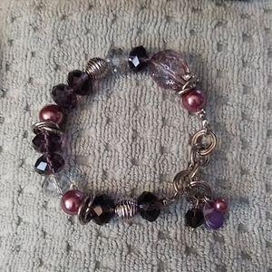 Lia Sophia stretchy Purple bracelet